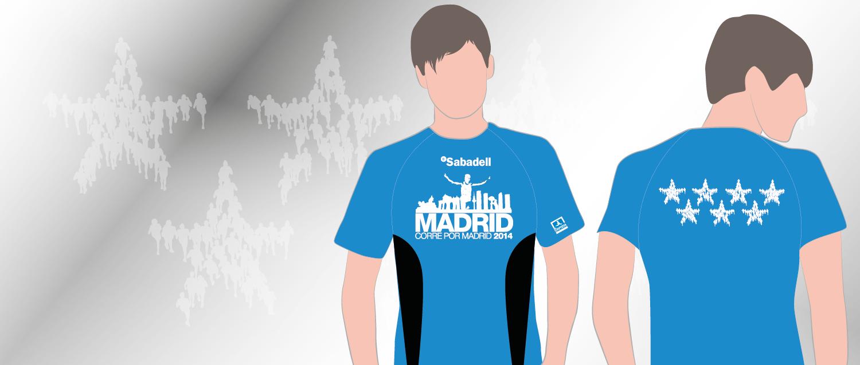 Nueva Camiseta Madrid corre por Madrid 2014